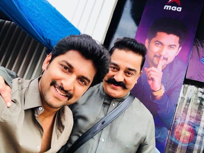 47. Nani fan boy moment with Kamal Hassan garu on Bigg Boss Set