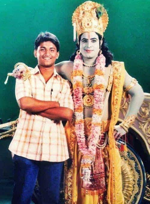 7. Nani rare pic when he was working as assistant diretor