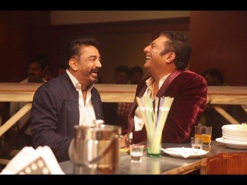 11. Prakash Raj with Kamal hassan