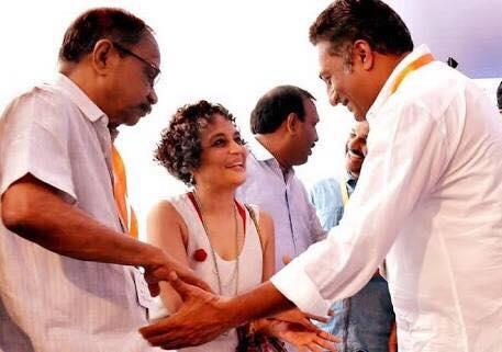 15. Prakash raj and Arundhati Roy