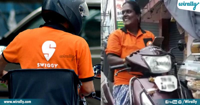 first Swiggy delivery woman Jayalakshmi