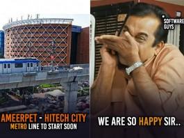 Ameerpet-Hitech City Metro route