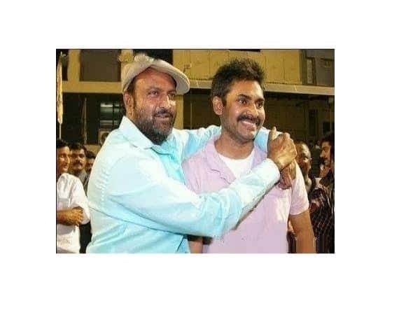 Mohan Babu with pawan kalyan