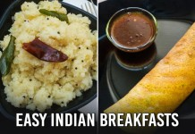 Quick Indian Breakfast Recipes