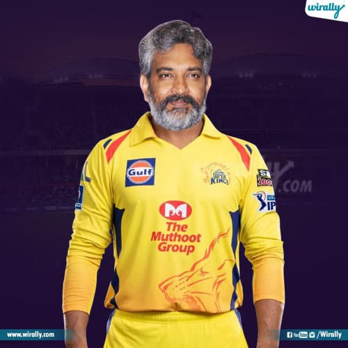 rajamouli in chennai superkings jersey