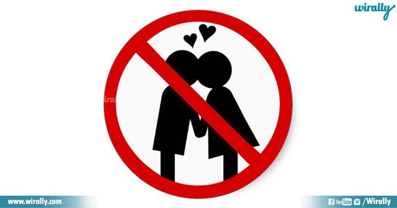 kissing in public banned in india