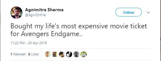 Memes On Avenger Endgame Tickets