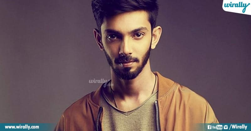 Anirudh in movie jersey