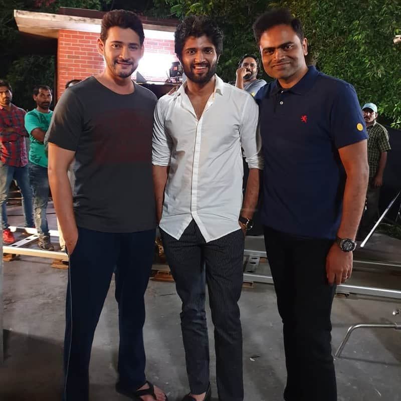 38. Vijay Deverakonda fanboy moment with Mahesh Babu and Vamshi Paidipally