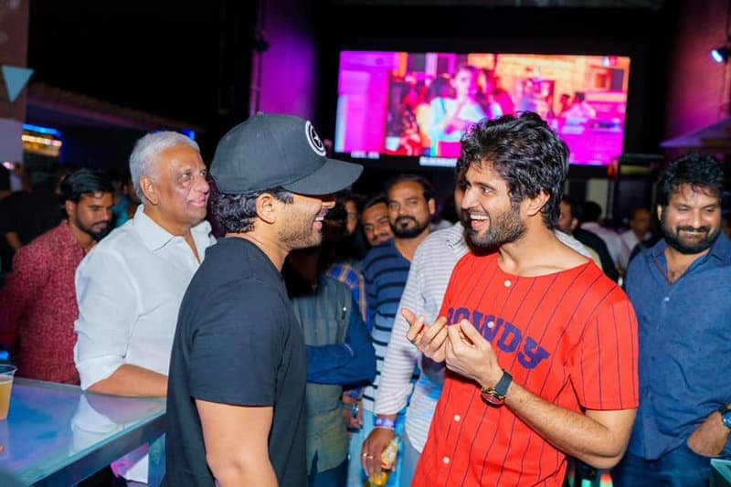39. Vijay Deverakonda with Allu Arjun at Geetha Govindam Success Party