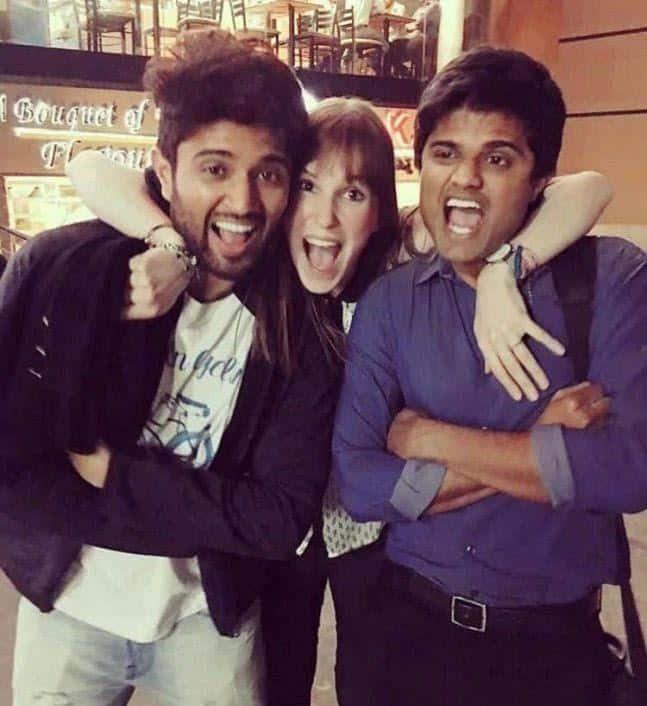 41. Vijay Deverakonda with his girl friend and brother Anand Deverakonda