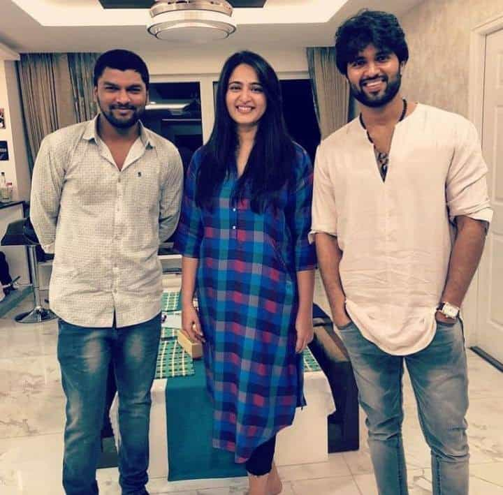 42. Vijay Deverakonda with Anushka Shetty