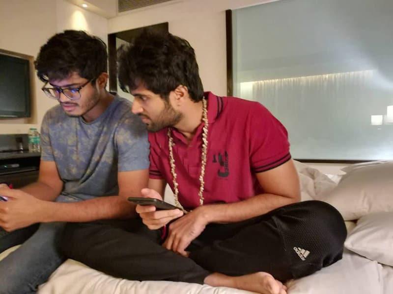 43. Vijay Deverakonda with his brother Anand Deverakonda