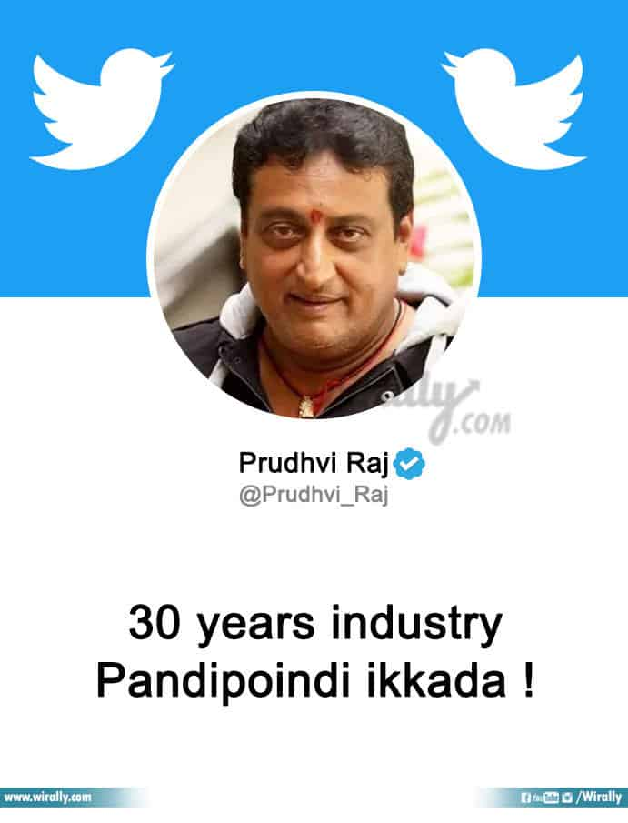 Tollywood Celebs Twitter Bios Based