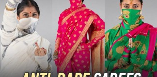 Anti-Rape Sarees Designed