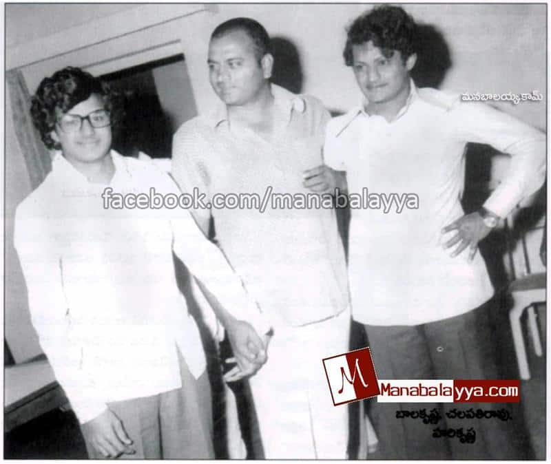 12. Rare pic of Balayya with Harikrishna and Chalapathi Rao