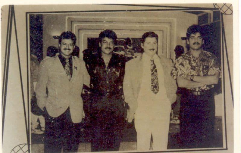15. Rare pic of Balayya with Chiranjeevi, Shobhan Babu and Nagarjuna