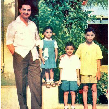 2. Balakrishna childhood pic with his father NTR, sister Purandeswari & elder brother Harikrishna