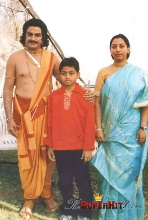21. Rare pic of BalaKrishna and his wife Vasundhara with their son Mokshagna