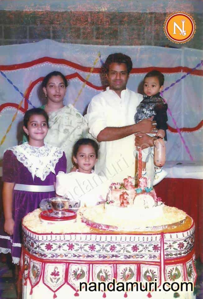24. Rare pic of BalaKrishna and his wife Vasundhara with their children