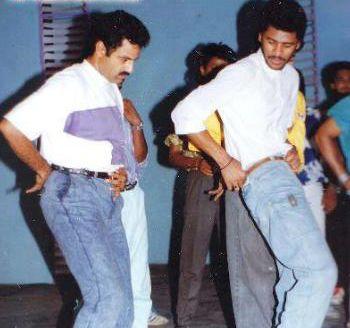 26. Balakrishna and Prabhudeva rare pic from movie sets