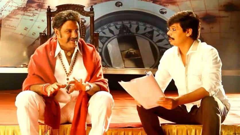 39. Balakrishna with director Boyapati Srinu on Legend movie sets