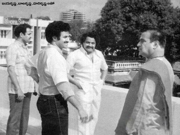 4. Balakrishna rare pic with his father NTR and his brothers Jayakrishna, Harikrishna