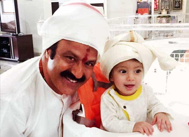 52. Balakrishna with his grandson Devansh