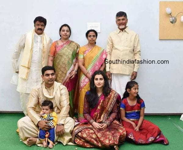 53. Balakrishna and his wife with Nara family during Devansh Annaprasana