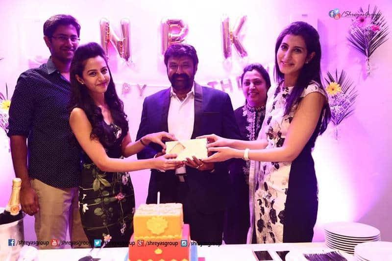 54. Balakrishna celebrating his birthday with family members