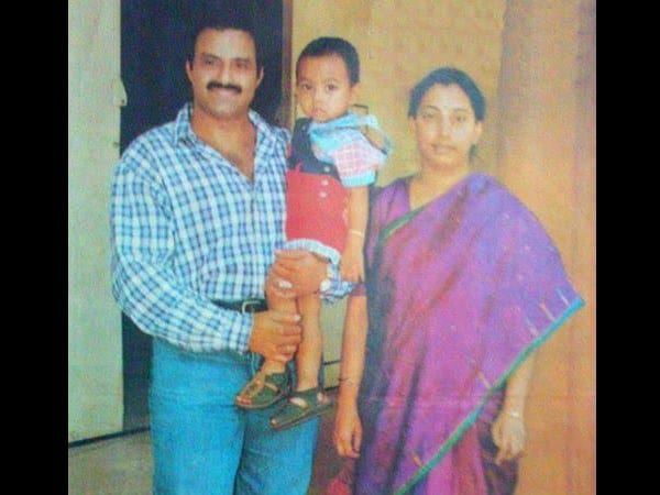 57. Balakrishna cwith his Wife Vasundhara and son Mokshagna