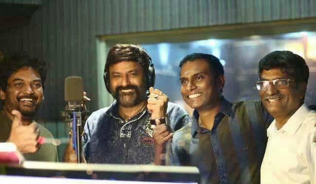 58. Balakrishna Recording song for Paisa Vasool