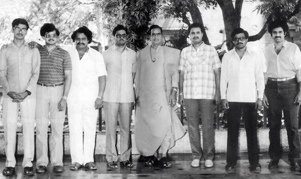 6. Balakrishna with his father NTR and seven brothers