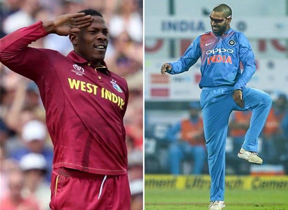 Cricketers Celebrating