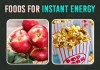 Instant energy foods