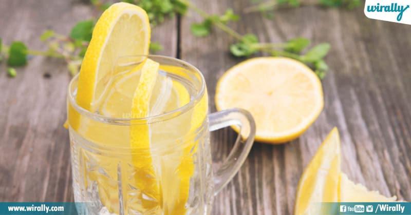 4 - lemon water