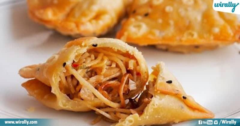 7 - noodles samosa