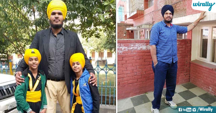 Jagdeep Singh with children