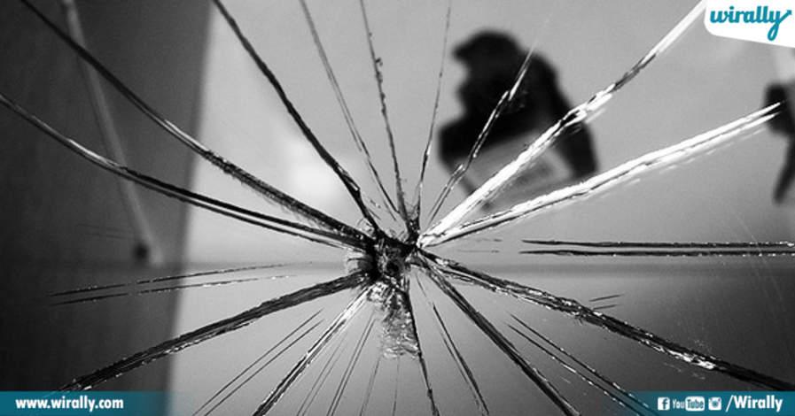 Breaking mirror brings 7 years of bad luck
