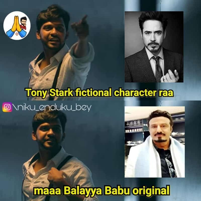 10. Balayya as Tony Stark
