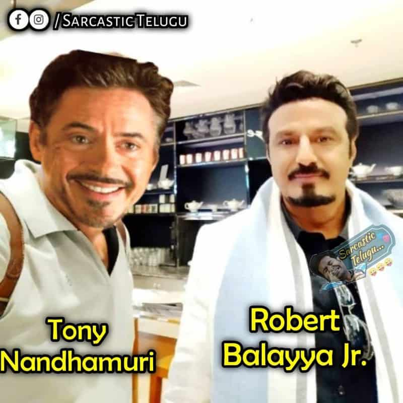 11. Balayya as Tony Stark