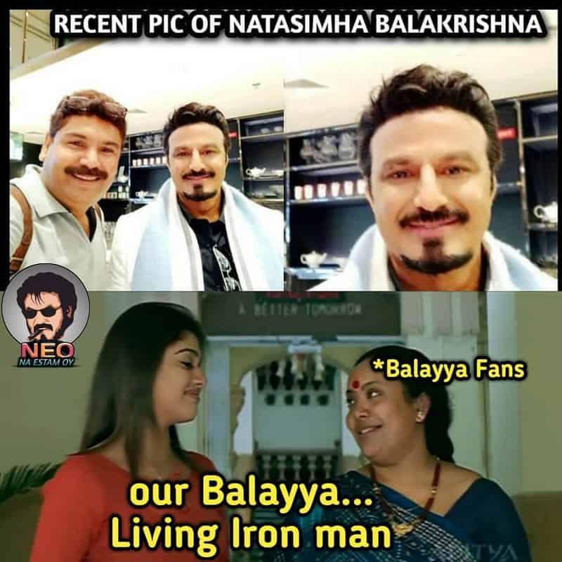 12. Balayya as Tony Stark