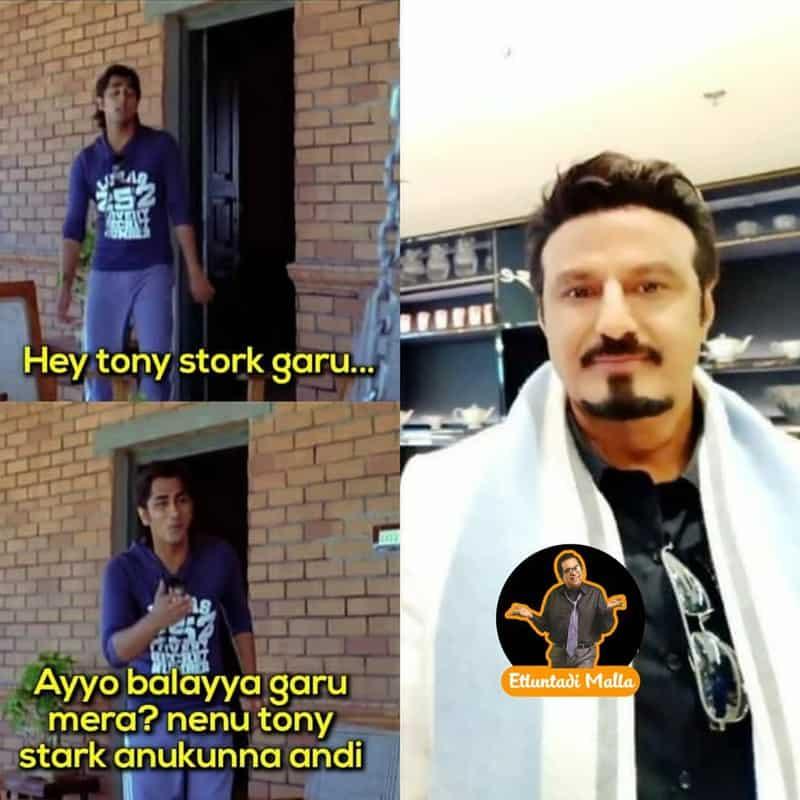13. Balayya as Tony Stark