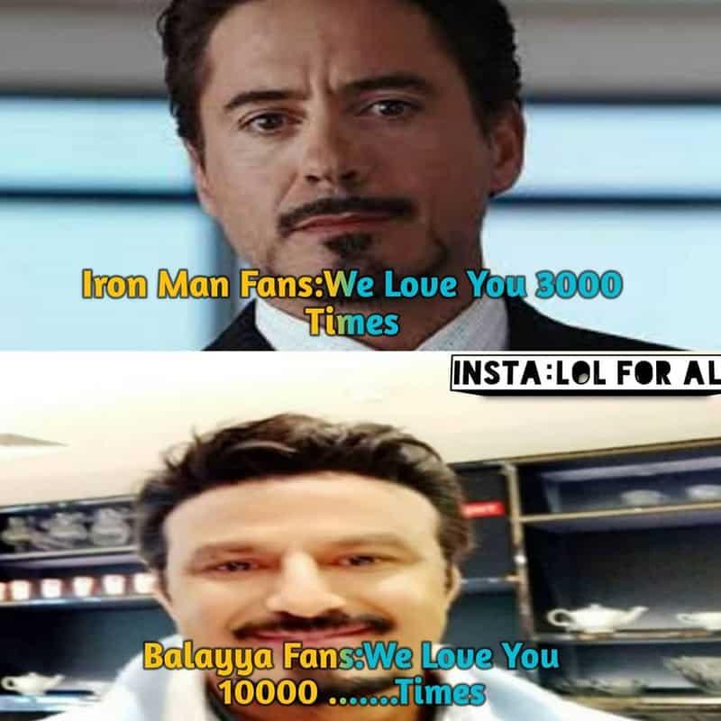 15. Balayya as Tony Stark