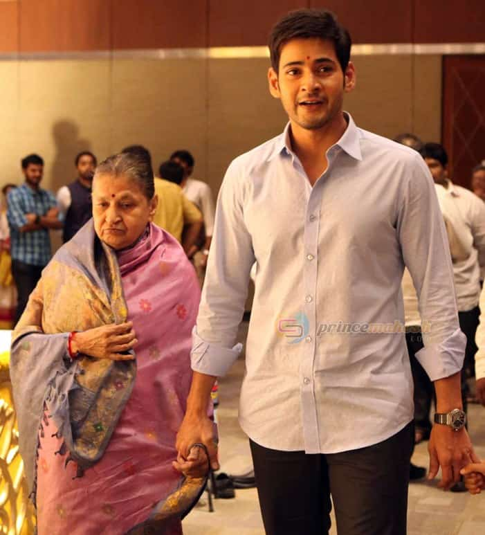 39. Mahesh Babu with his mother Indira garu