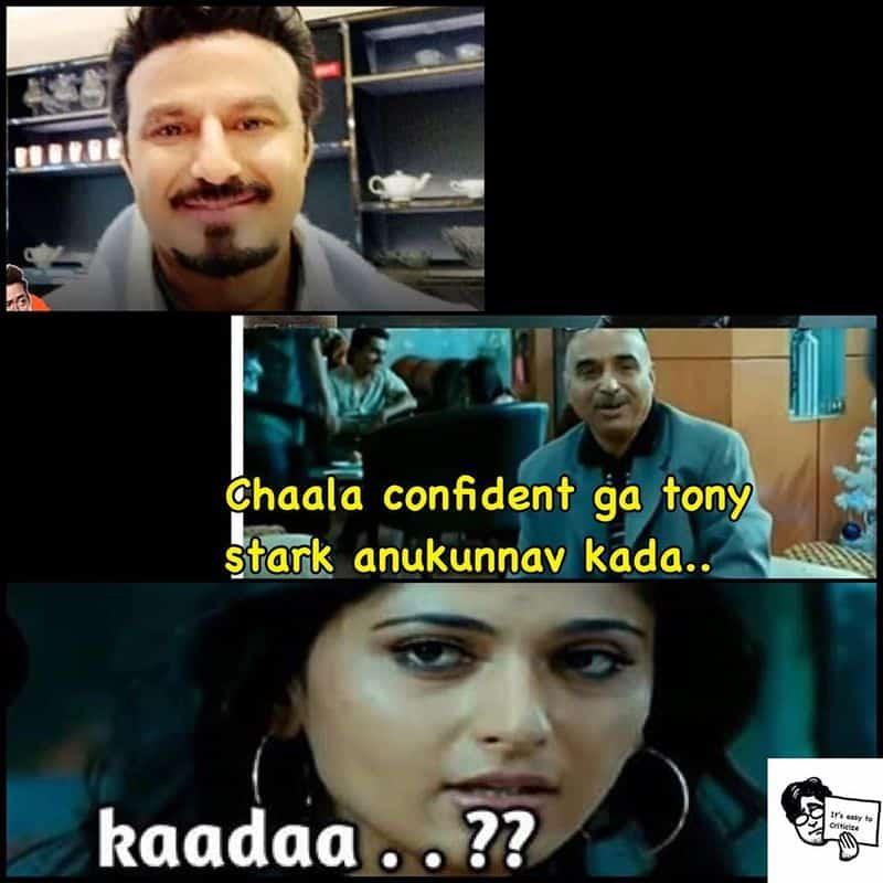 8. Balayya as Tony Stark