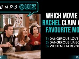 Quiz article on FRIENDS show
