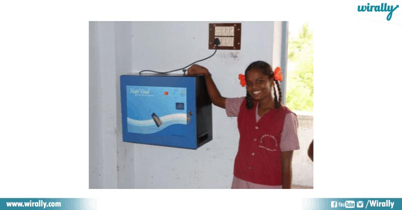 first Digital Sanitary Pad Bank