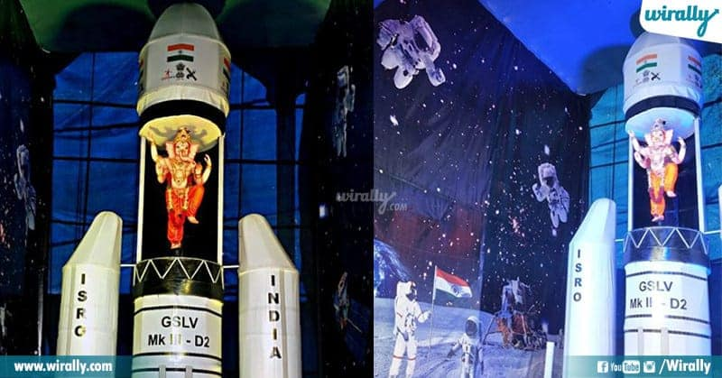 Chandrayaan 2 Ganesh Installed in Lal Darwaza