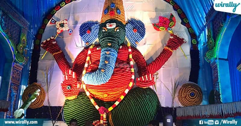 Eco friendly Matti Gajula Vinayaka in tirupati